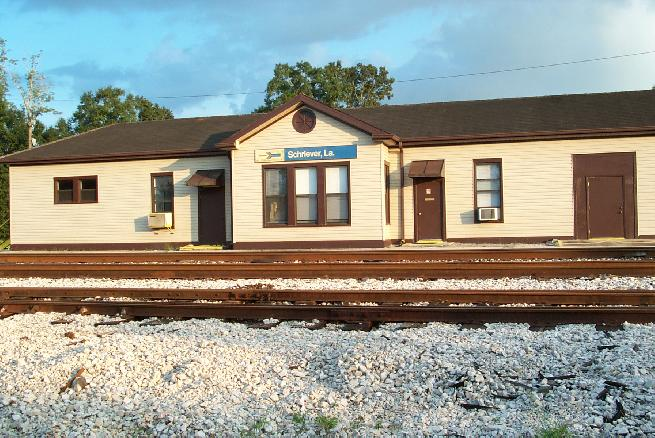Amtrak station in Schriever