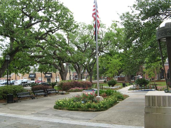 Flag pole at Court House square